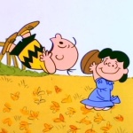 Lucy Pulling Away Football from Charlie Brown