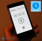 Stopwatch app on smartphone